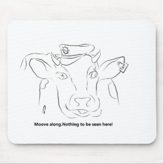 Comedy Cow Mouse Pad
