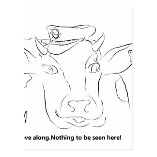 Comedy Cow Postcard