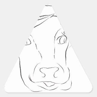 Comedy Cow Triangle Sticker