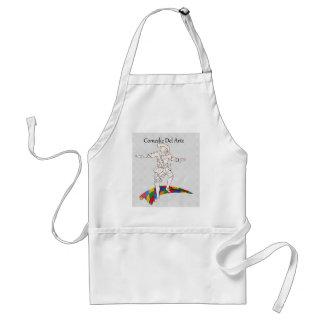 comedy del arte harlequin adult apron