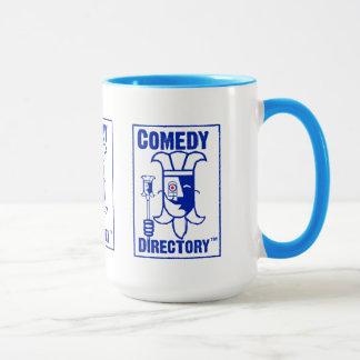 Comedy Directory Power Blue 15 oz Ringer Mug