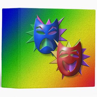 Comedy-Drama Masks Binder
