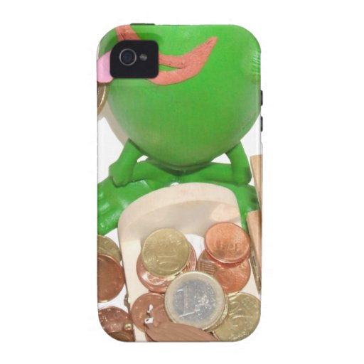 Comedy_frog_and_money_chest.png Case-Mate iPhone 4 Funda
