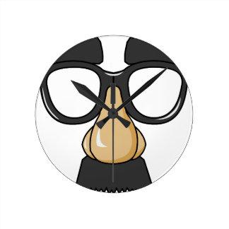 comedy funny glasses wall clock