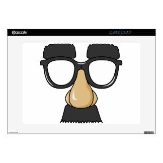 "comedy funny glasses 15"" laptop skins"