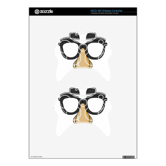 comedy funny glasses xbox 360 controller skins
