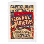 Comedy Galore Rome NY 1937 WPA Card