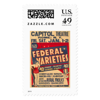 Comedy Galore Rome NY 1937 WPA Stamps
