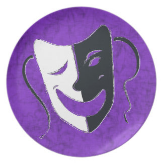 Comedy Mask Plates