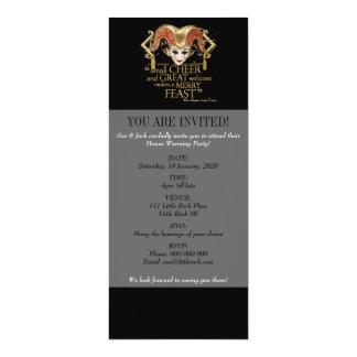 Comedy Of Errors Feast Quote (Gold Version) 4x9.25 Paper Invitation Card