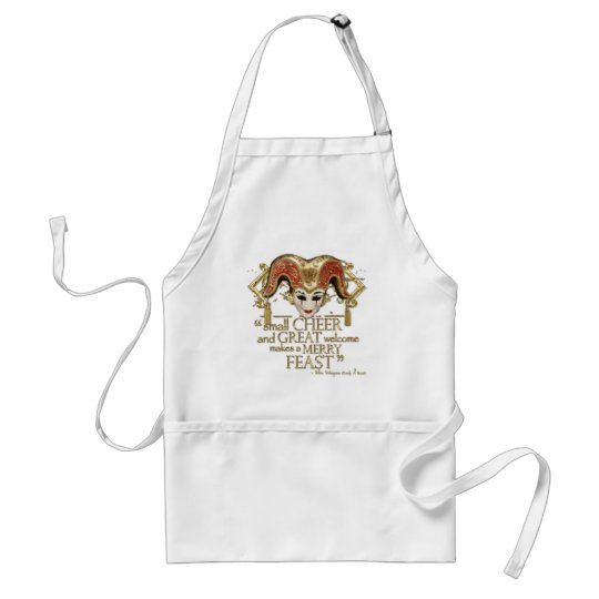 Comedy Of Errors Feast Quote (Gold Version) Adult Apron