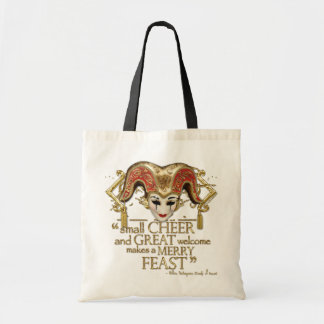 Comedy Of Errors Feast Quote (Gold Version) Budget Tote Bag