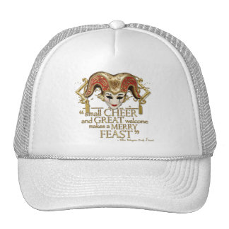 Comedy Of Errors Feast Quote (Gold Version) Trucker Hat