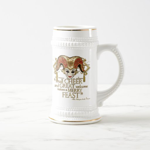 Comedy Of Errors Feast Quote (Gold Version) Mugs