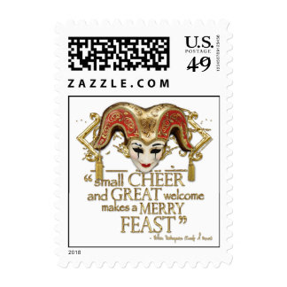 Comedy Of Errors Feast Quote (Gold Version) Stamps