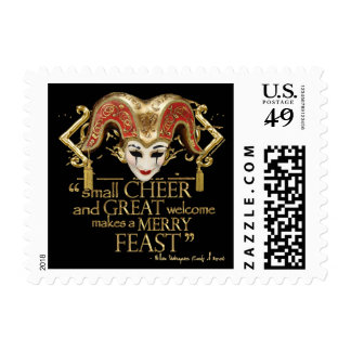 Comedy Of Errors Feast Quote (Gold Version) Postage Stamps