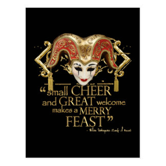 Comedy Of Errors Feast Quote (Gold Version) Post Card