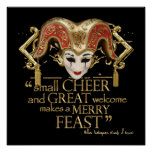 Comedy Of Errors Feast Quote (Gold Version) Print