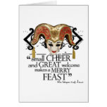 Comedy Of Errors Feast Quote Greeting Card