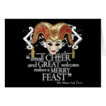 Comedy Of Errors Feast Quote Greeting Cards