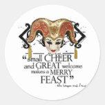 Comedy Of Errors Feast Quote Round Sticker