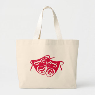 Comedy or Tragedy 3 Large Tote Bag