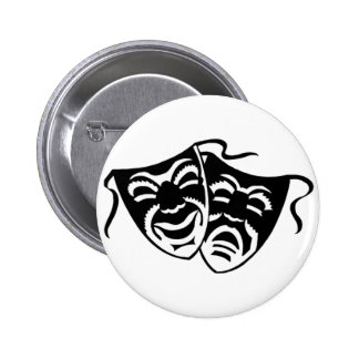 Comedy or Tragedy Pinback Button