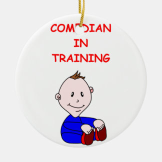 COMEDY Double-Sided CERAMIC ROUND CHRISTMAS ORNAMENT