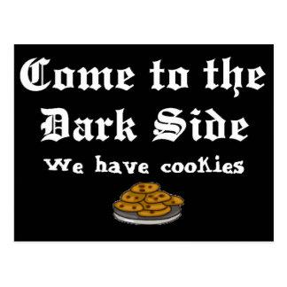 Comedy Postcard Come to the Dark Side