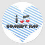 Comedy Rap Round Stickers