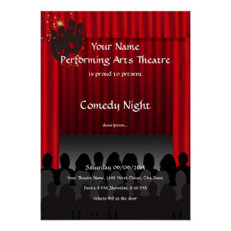 Comedy Theatre Performing Arts Stage Show Poster