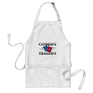Comedy Tragedy Adult Apron
