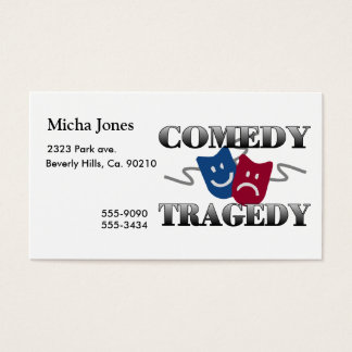 Comedy Tragedy Business Card