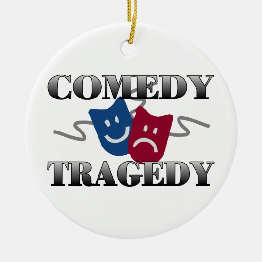 Comedy Tragedy Ceramic Ornament