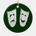 Comedy Tragedy Christmas Tree Ornaments
