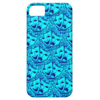 Comedy Tragedy Drama Masks, iPhone 5 Mask in Blue iPhone 5 Case