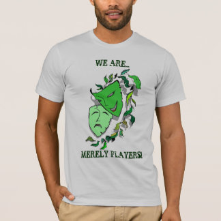 COMEDY & TRAGEDY DRAMA MASKS- MERELY PLAYERS~ TEES