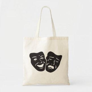 Comedy Tragedy Drama Theatre Masks Budget Tote Bag