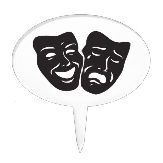 Comedy Tragedy Drama Theatre Masks Cake Topper