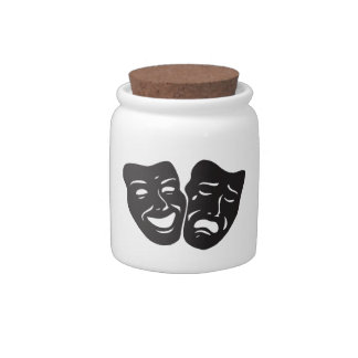 Comedy Tragedy Drama Theatre Masks Candy Dishes