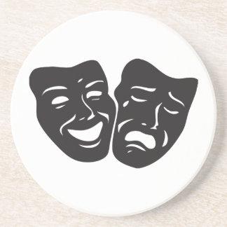 Comedy Tragedy Drama Theatre Masks Drink Coaster