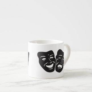 Comedy Tragedy Drama Theatre Masks Espresso Cup