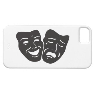 Comedy Tragedy Drama Theatre Masks iPhone SE/5/5s Case