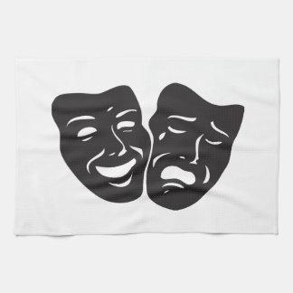 Comedy Tragedy Drama Theatre Masks Kitchen Towel