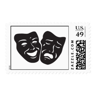 Comedy Tragedy Drama Theatre Masks Postage