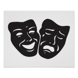 Comedy Tragedy Drama Theatre Masks Poster