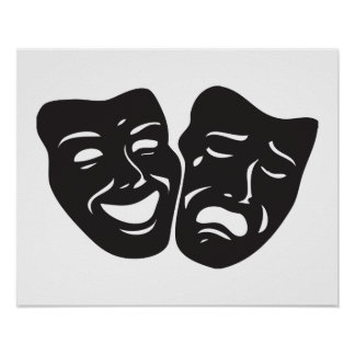pictures of drama masks comedy tragedy posters zazzle 3529