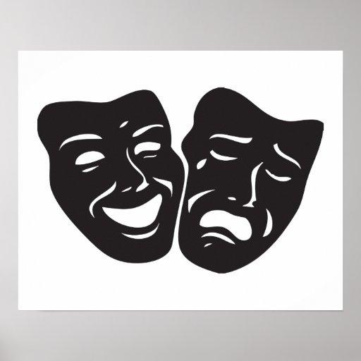 Comedy Tragedy Drama Theatre Masks Print