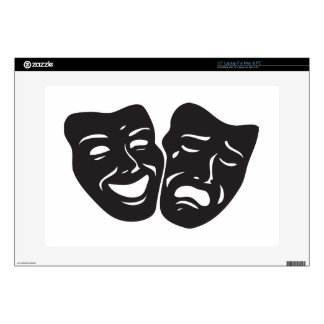 "Comedy Tragedy Drama Theatre Masks Skin For 15"" Laptop"
