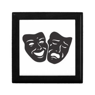 Comedy Tragedy Drama Theatre Masks Trinket Box